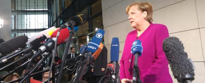 Sondierungen in Berlin - Angela Merkel gibt ein Statement